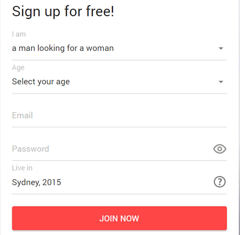 Quickflirt Signup Form