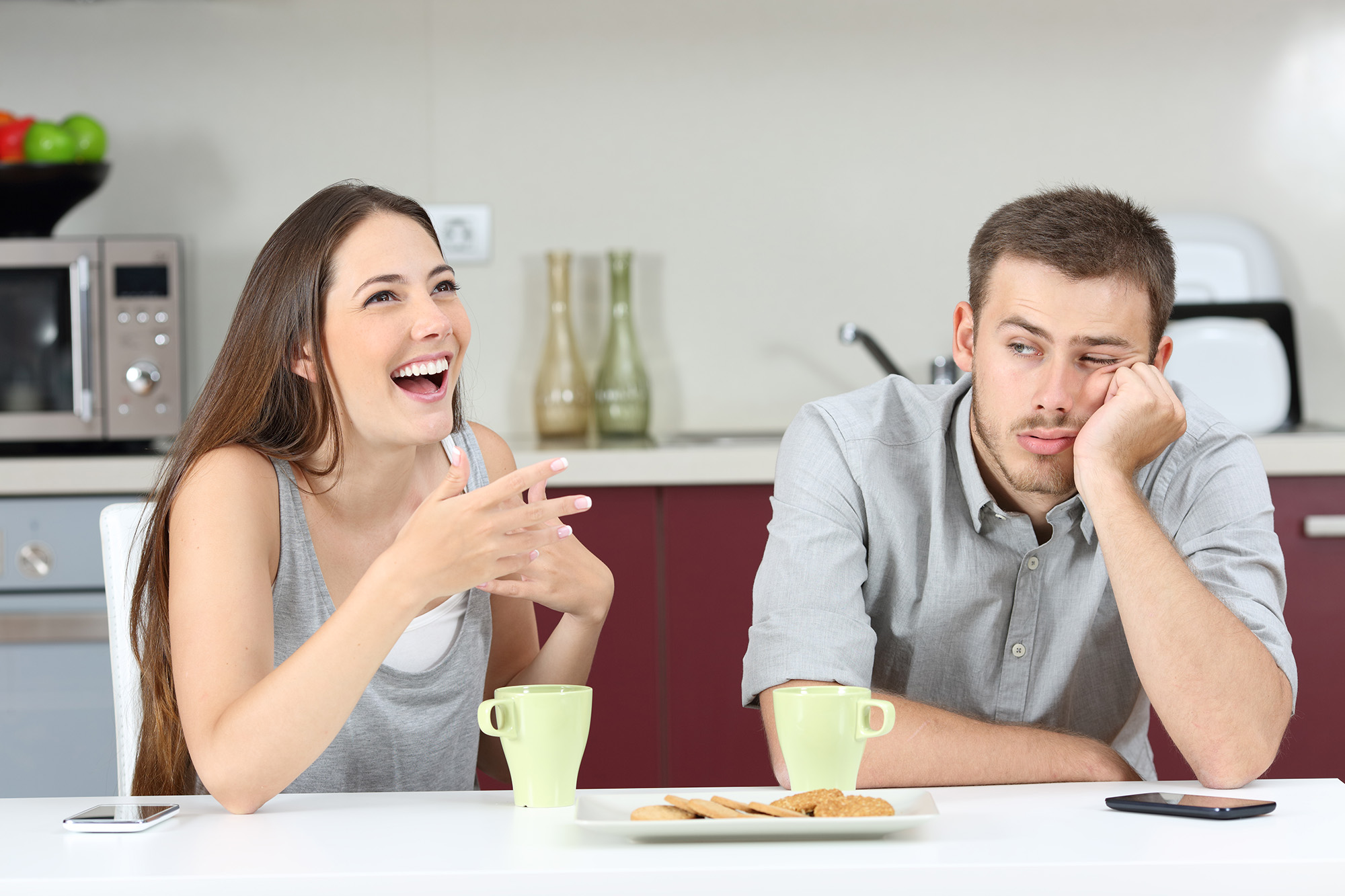 Bored Guy with Wife