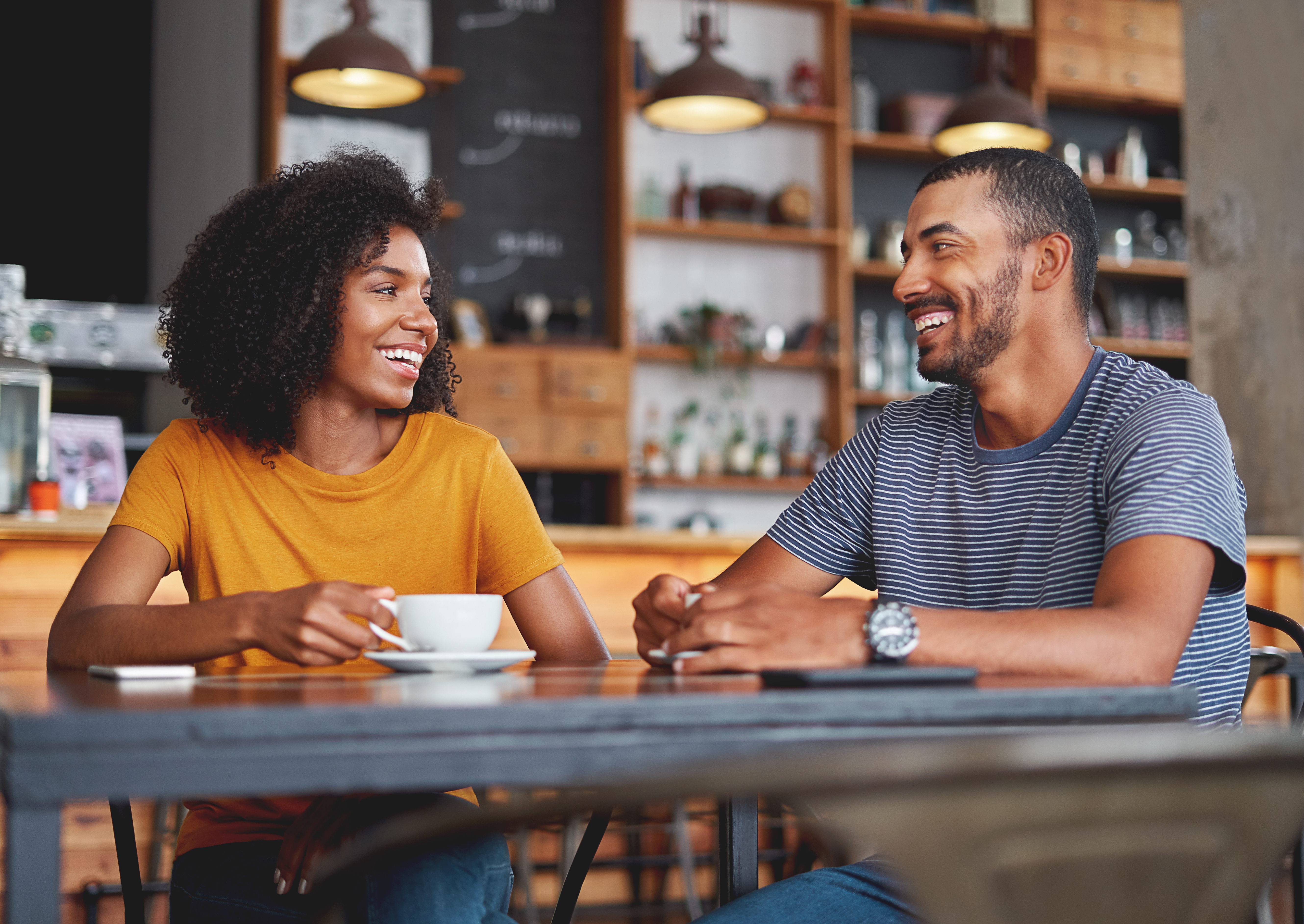 Black Couple on a Date