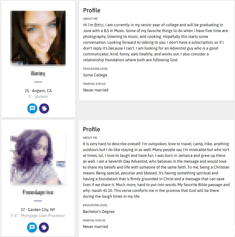 Adventist Singles Profile
