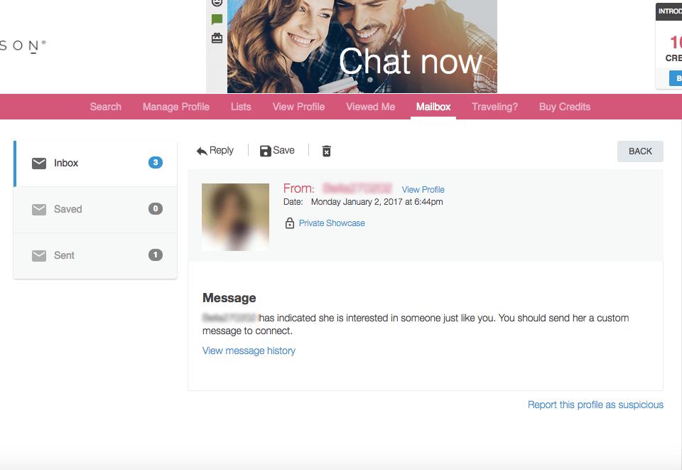Ashley Madison Inbox