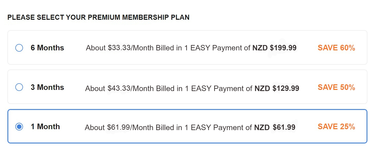 BiCupid NZ Cost