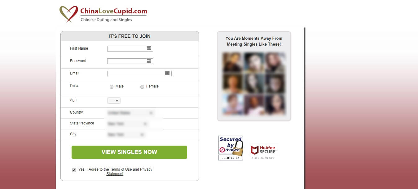 ChinaLoveCupid Registration