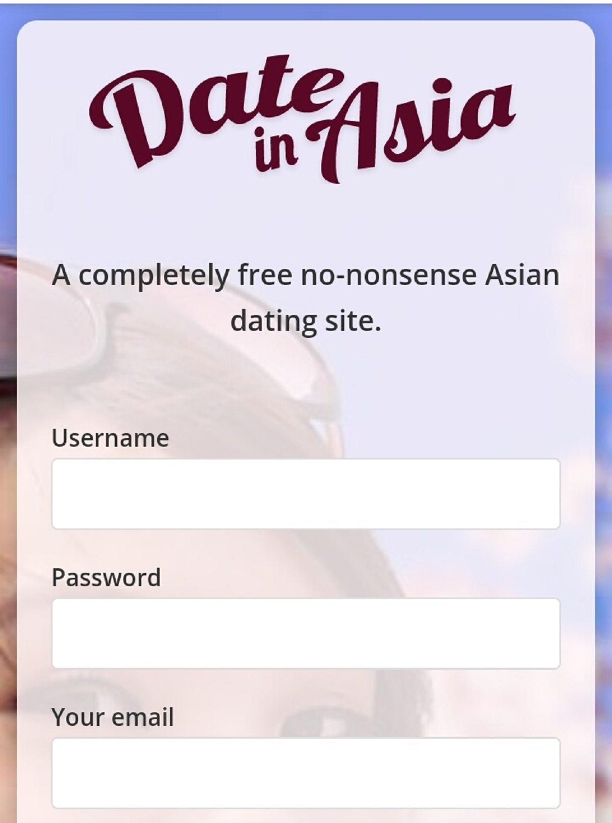 DateinAsia Mobile Site