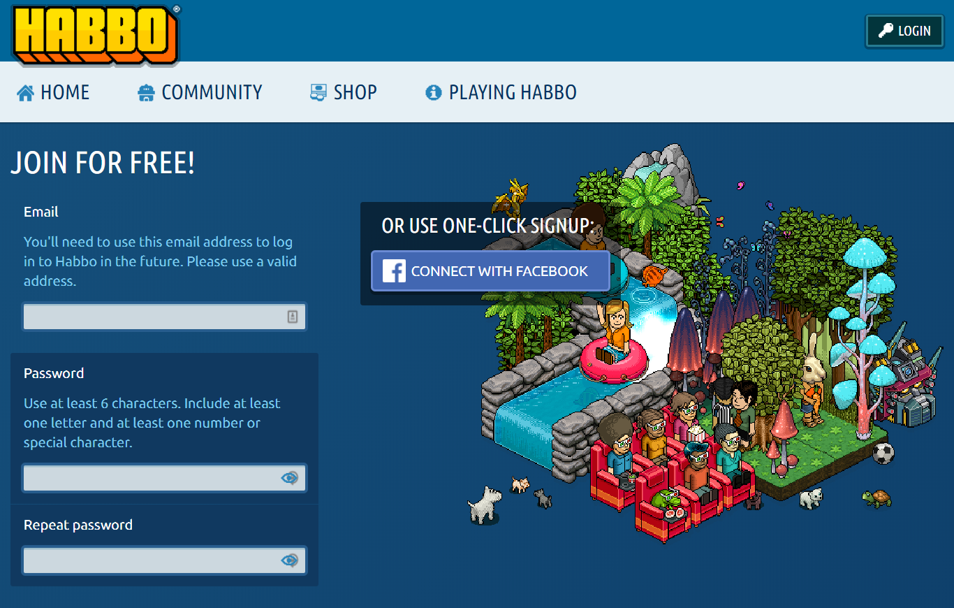 Habbo Register