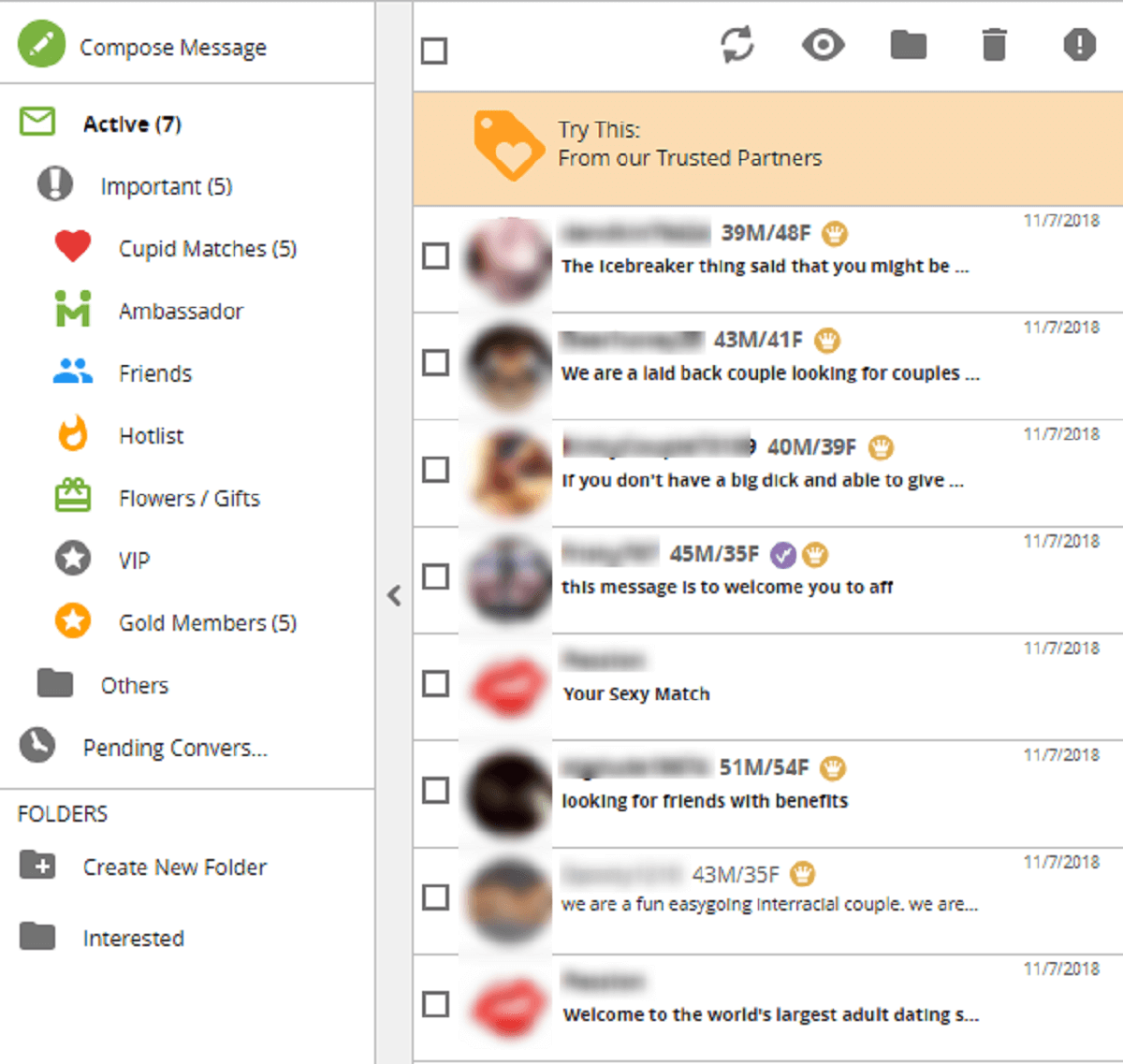 Passion.com Inbox