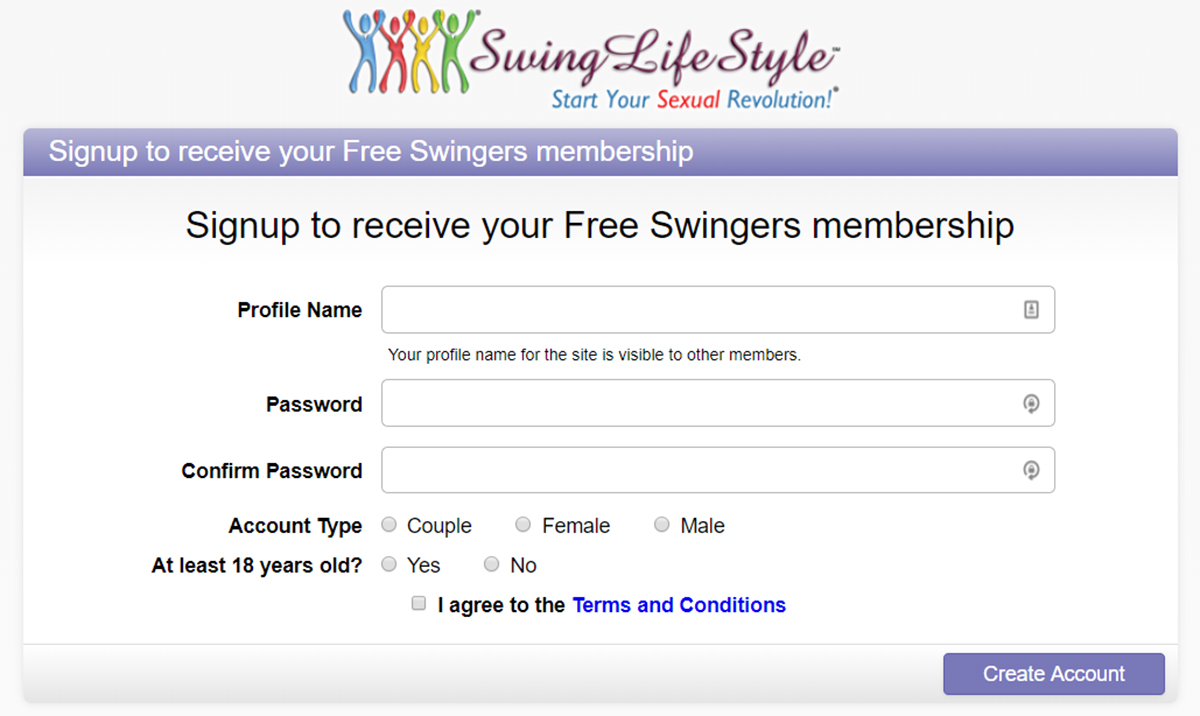 Swing Lifestyle Registration