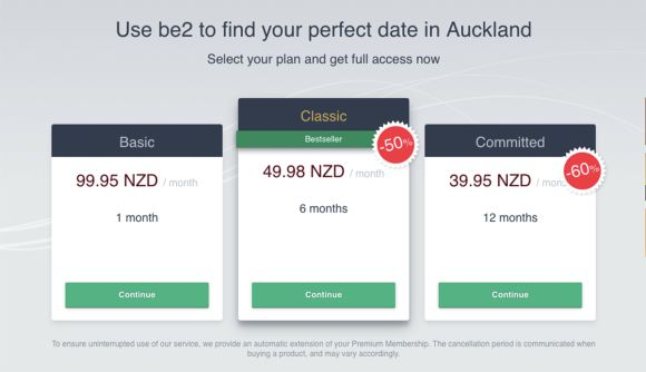 be2 Cost NZ