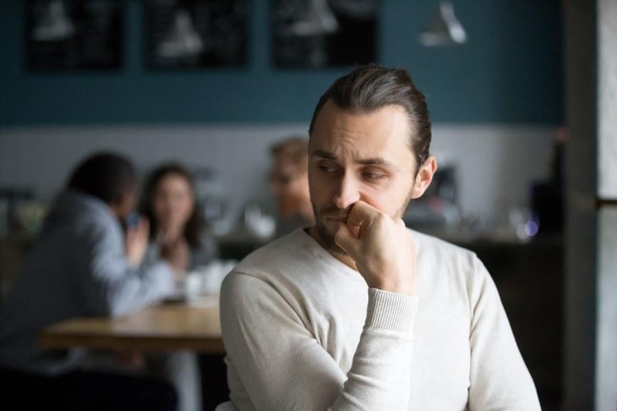 Man without self-esteem