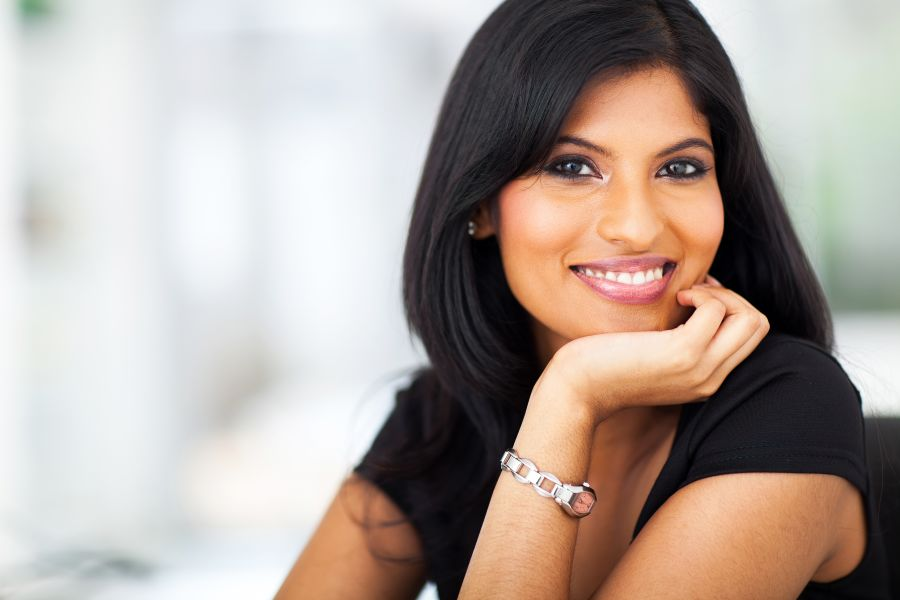 Indian Dating Smiling Woman