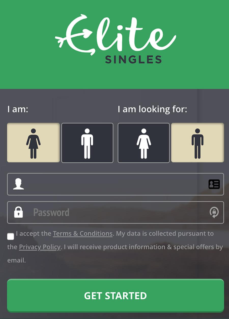 Elite Singles Sign up
