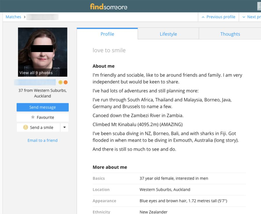 FindSomeone Profile