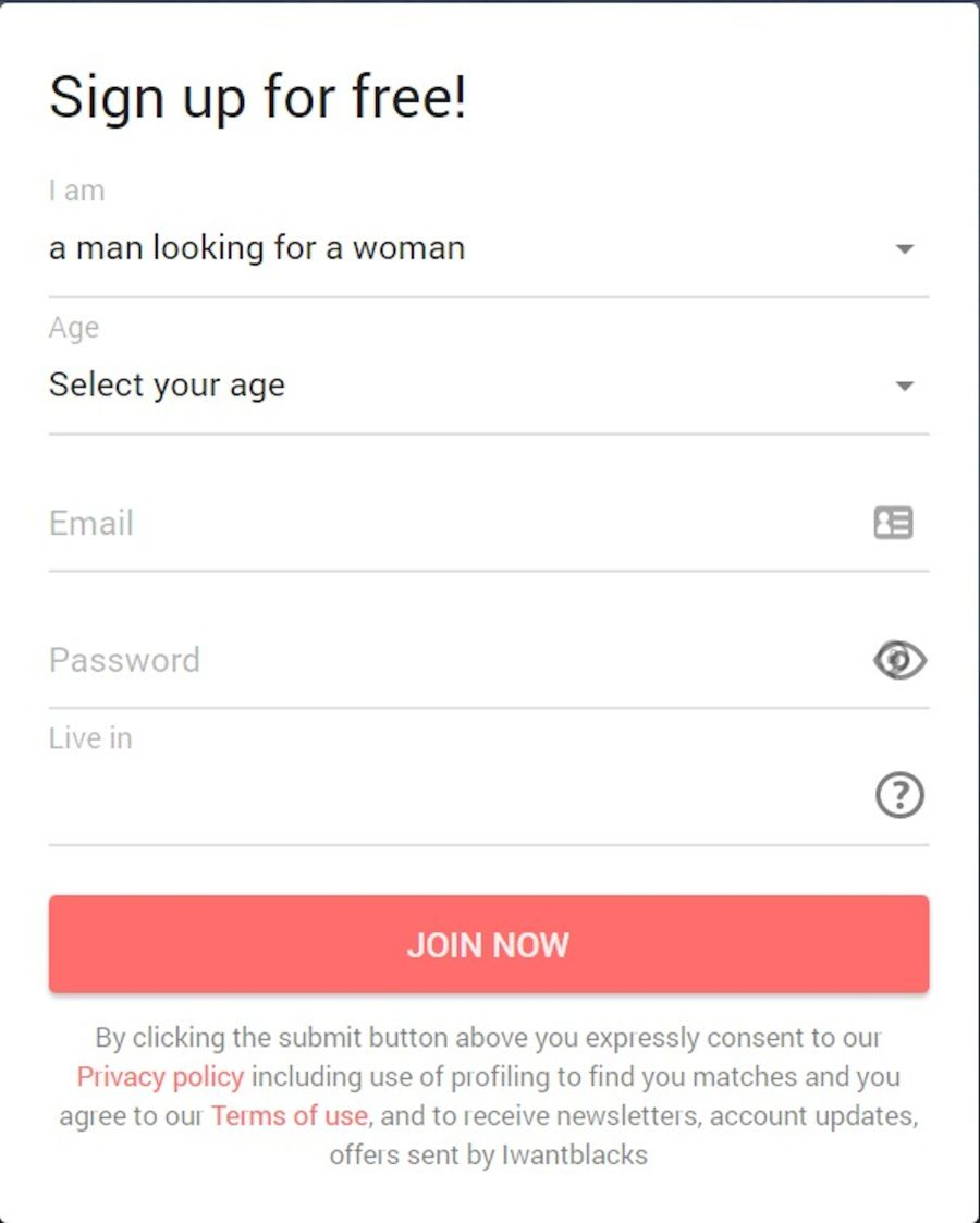 Iwantblacks Sign Up