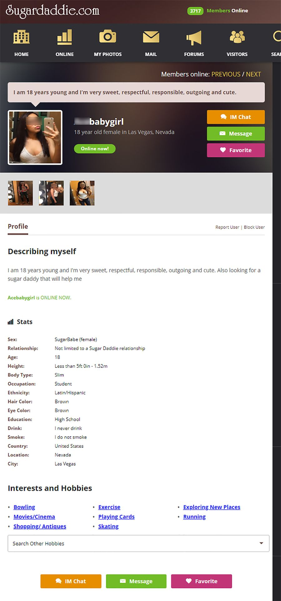 Sugardaddie Female Profile