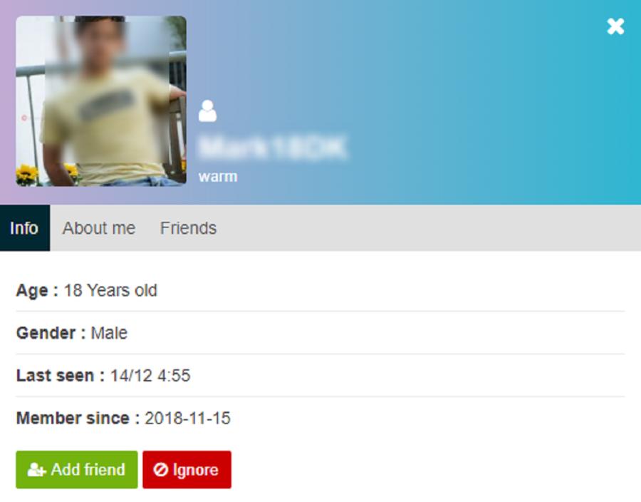 TeenChat Profile