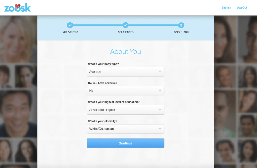 Zoosk Registration